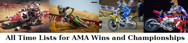 All Time AMA MX and SX Win Lists